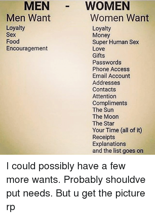 I need women for sex