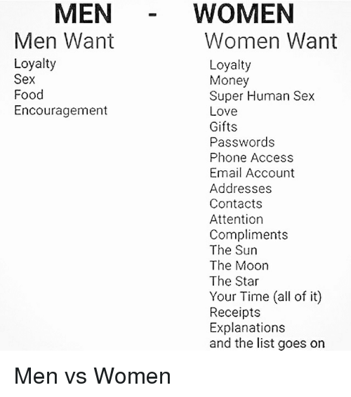 What man love about woman and sex