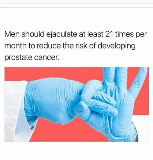 avoid prostate cancer ejaculation