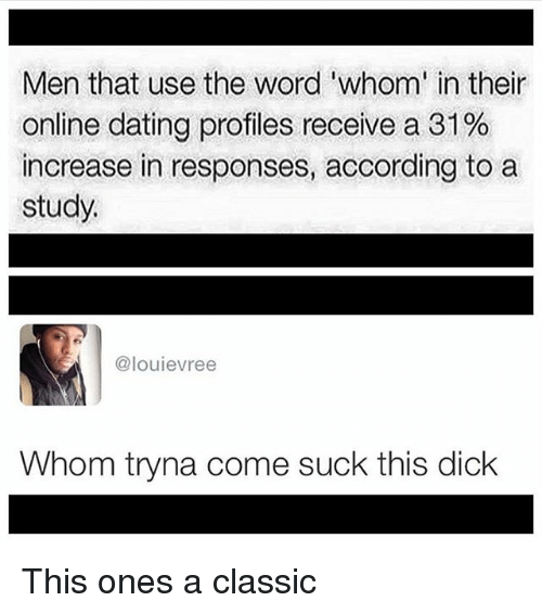 responses for online dating