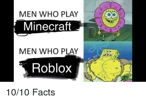 Men Who Play Minecraft Men Who Play Roblox Facts Meme On Meme
