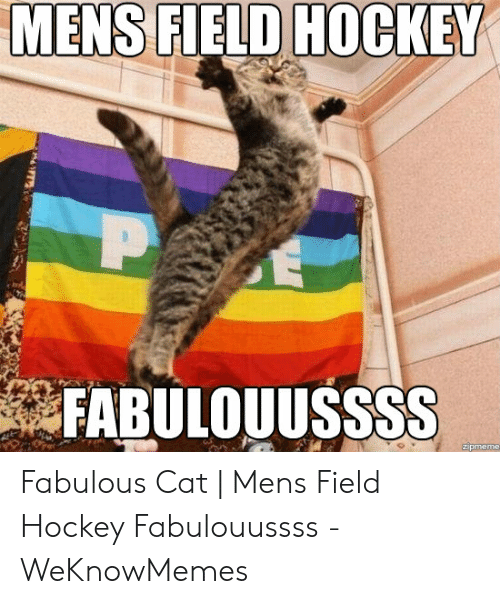 MENS FIELD HOCKEY P FABULOUUSSSS Zipmeme nFT Fabulous Cat