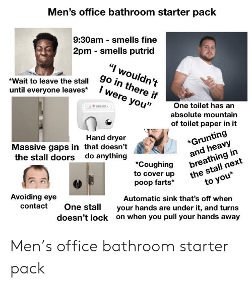 Men's Office Bathroom Starter Pack 930am Smells Fine 2pm