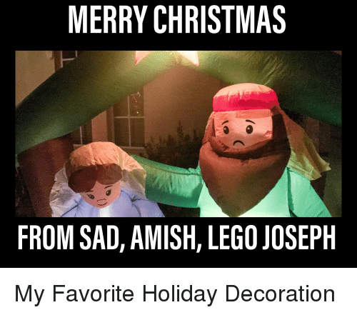 christmas funny and lego merry christmas from sad amish lego joseph - Funny Merry Christmas Meme