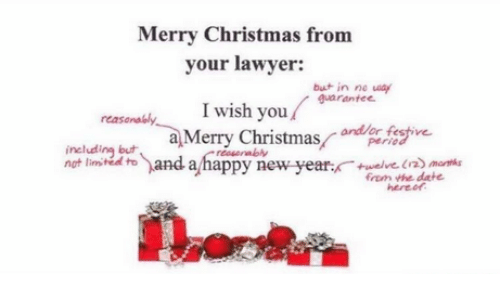 christmas lawyer and new years merry christmas from your lawyer but in
