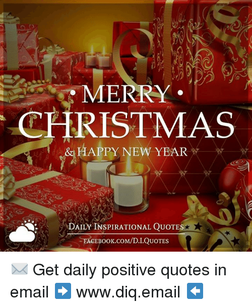 MERRY CHRISTMAS HAPPY NEW YEAR DAILY INSPIRATIONAL QUOTES Impressive New Year Quotes Inspirational