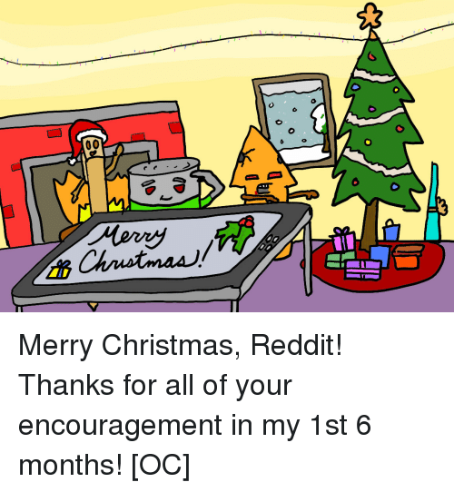 Merry Christmas Reddit! Thanks for All of Your Encouragement in My ...