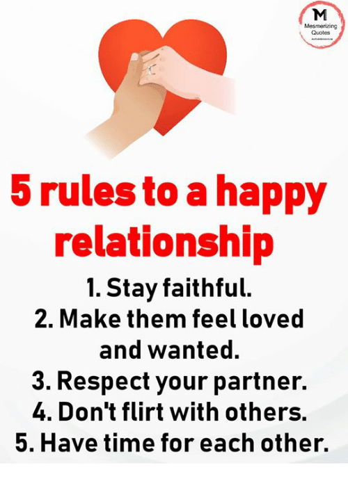 Happy Relationship Quotes Mesmerizing Quotes 5 Rules to a Happy Relationship 1 Stay Faithful  Happy Relationship Quotes