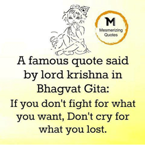Mesmerizing Quotes A Famous Quote Said By Lord Krishna In