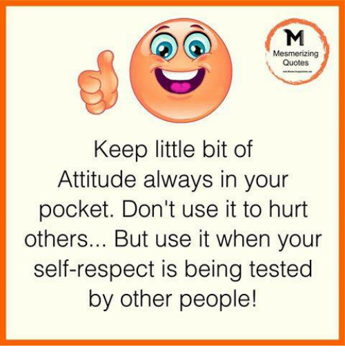 Self Respect Quotes Fascinating Mesmerizing Quotes Keep Little Bit Of Attitude Always In Your