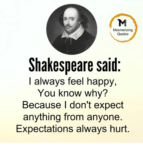 Mesmerizing Quotes Shakespeare Said I Always Feel Happy You Know Why