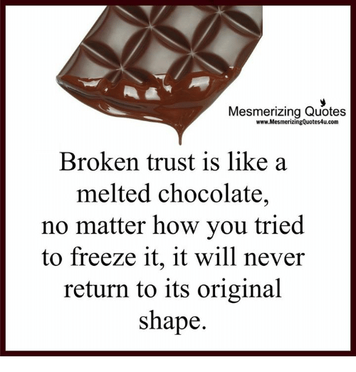 Mesmerizing Quotes Wwwmesmerizingquotes4ucom Broken Trust Is Like A