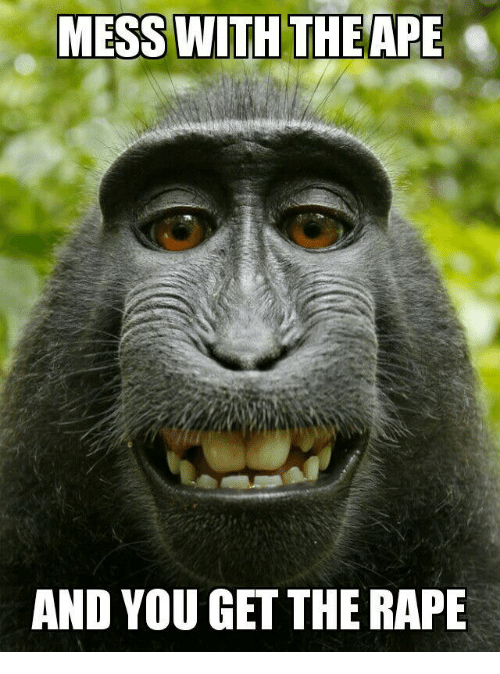 mess with the ape and you get the rape 20263259 mess with the ape and you get the rape rape meme on me me