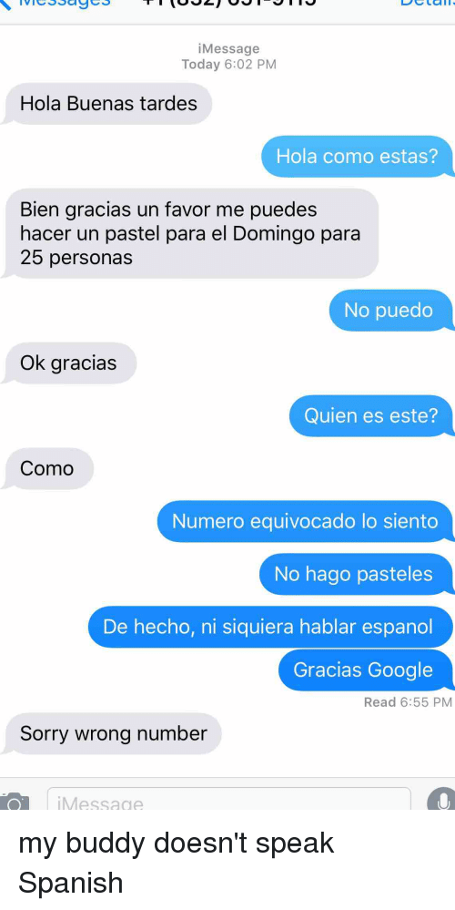 how to say sorry wrong number in spanish