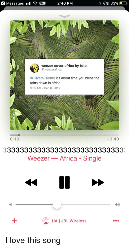Messages Ll VPN 246 PM Weezer Cover Africa by Toto It's