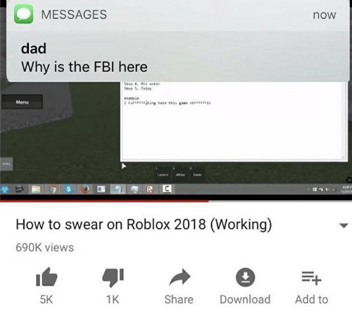 MESSAGES Now Dad Why Is the FBI Here Exanple Menu How to