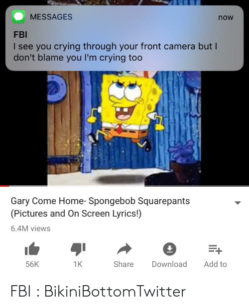 MESSAGES Now FBI I See You Crying Through Your Front Camera