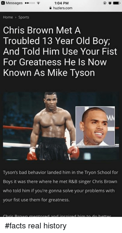 Chris Brown, Mike Tyson, and 13 Year Old: Messages ..ooo 1