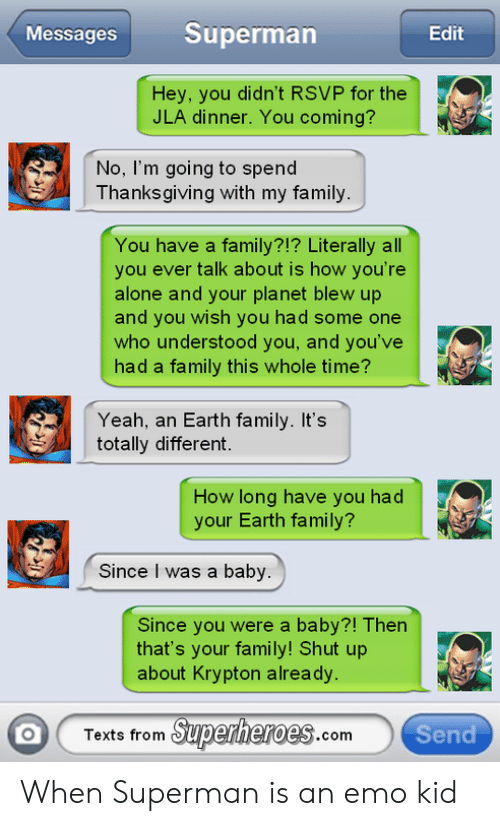 Messages Superman Edit Hey You Didn't RSVP for the JLA