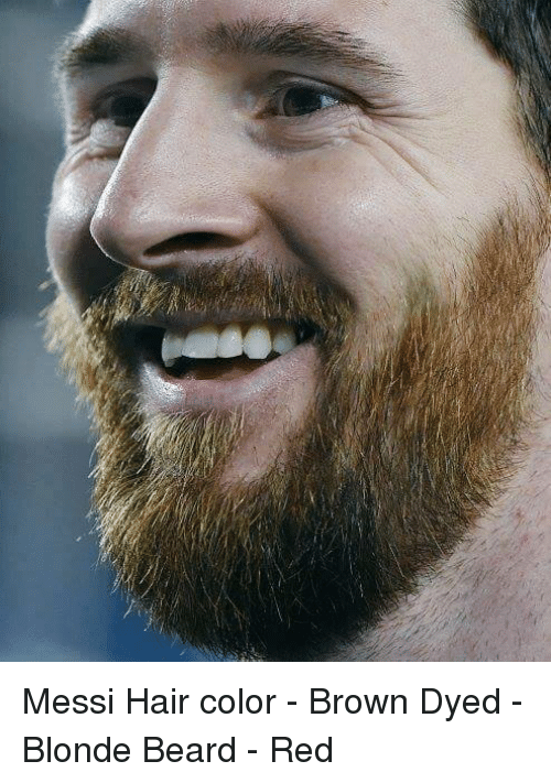Beard, Soccer, and Browns: Messi Hair color - Brown Dyed - Blonde Beard