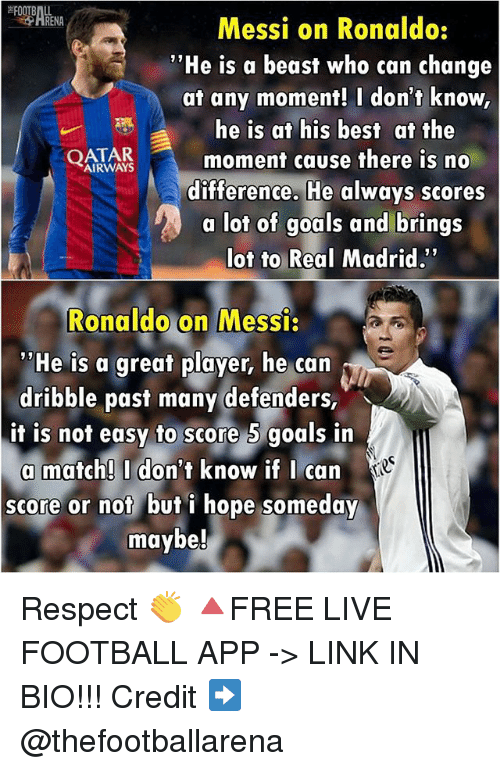 Football Goals And Memes Messi On Ronaldo He Is A Beast
