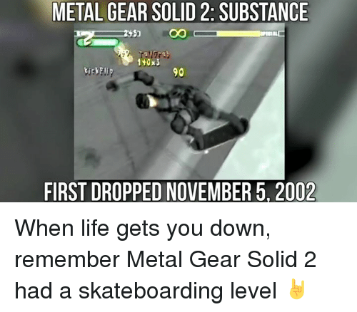 METAL GEAR SOLID 2SUBSTANCE CO 90 FIRST DROPPED NOVEMBER 5