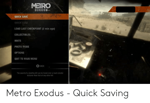 METRO 00390 1M QUICK SAVE QUICK'LOAD LOAD LAST CHECKPOINT 2