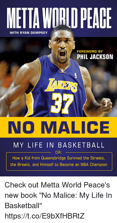 78fa5ca35 METTA WORID PEAGE WITH RYAN DEMPSEY FOREWORD BY PHIL JACKSON LAKERS ...