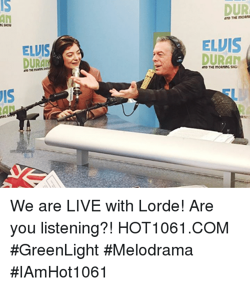 MG SHOW S ELVIS DURAN AND THE DUR AND THE ELVIS DURAN AND