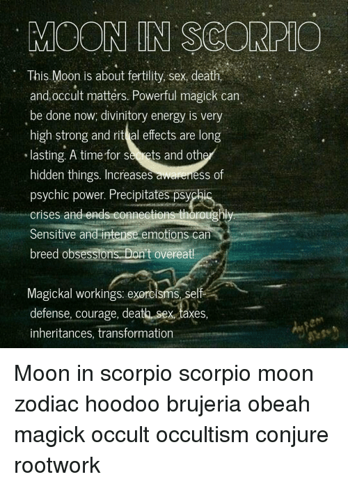 MGON IN SCOREMO This Moon Is About Fertility Sex Death and Occult
