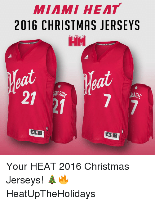 Christmas Jerseys.Miami Heat 2016 Christmas Jerseys Hm Your Heat 2016