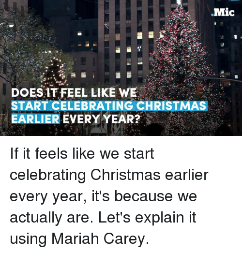 mariah carey memes and celebrities mic does it feel like we start celebrating - When Did We Start Celebrating Christmas