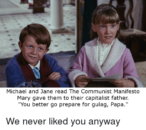 Michael And Jane Read The Communist Manifesto Mary Gave Them To
