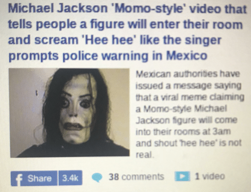 Michael Jackson 'Momo-Style' Video That Tells People a