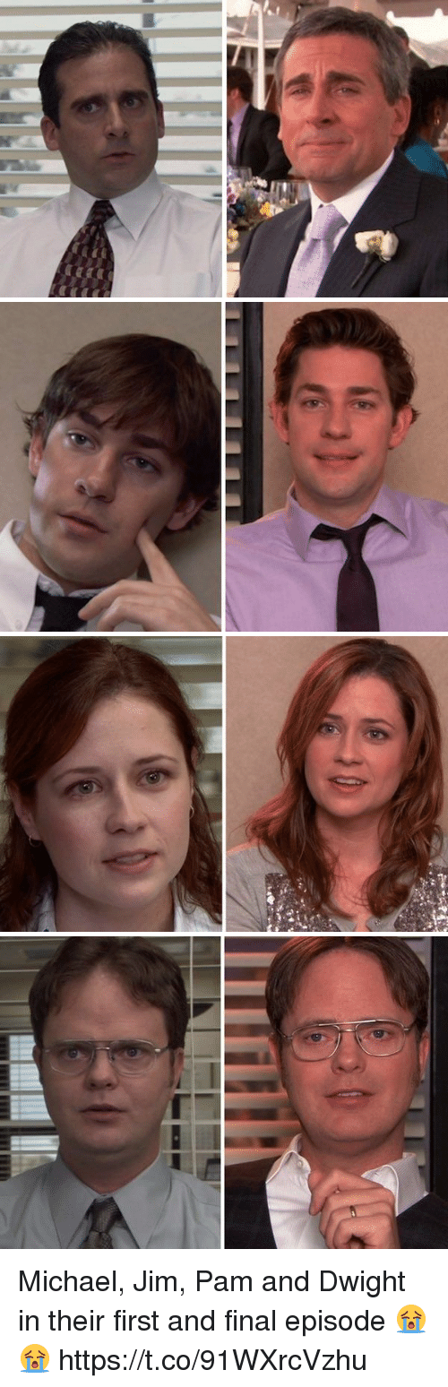 michael jim pam and dwight in their first and final episode