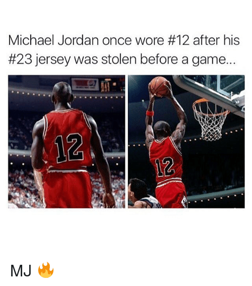 purchase cheap 12e8d 10119 Michael Jordan Once Wore #12 After His #23 Jersey Was Stolen ...