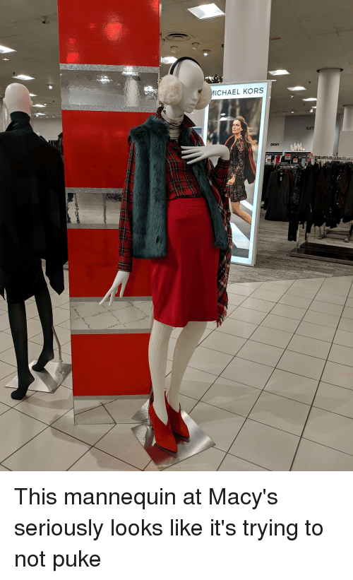 837657d274 MICHAEL KORS DKNY This Mannequin at Macy s Seriously Looks Like It s ...