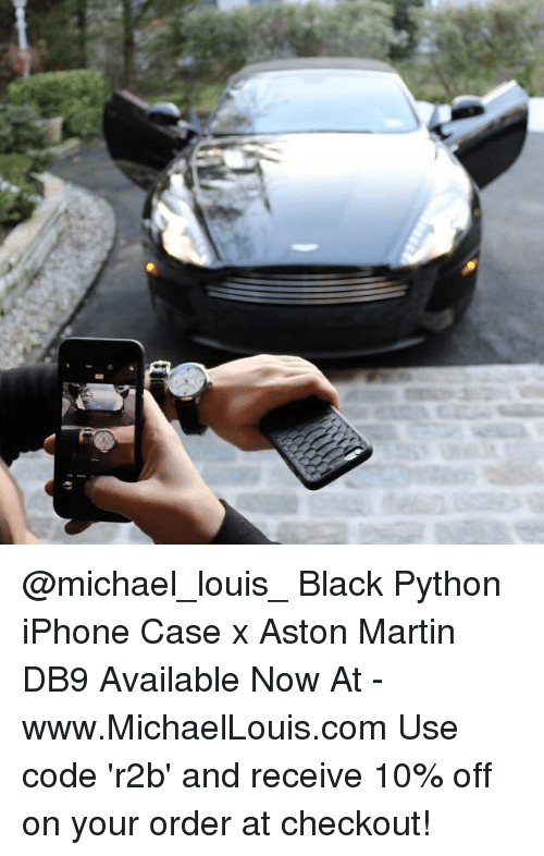 Black Python Iphone Case X Aston Martin Db9 Available Now At