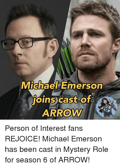 MichaelkEmers MicnaekEmerson ARROW Person of Interest Fans REJOICE