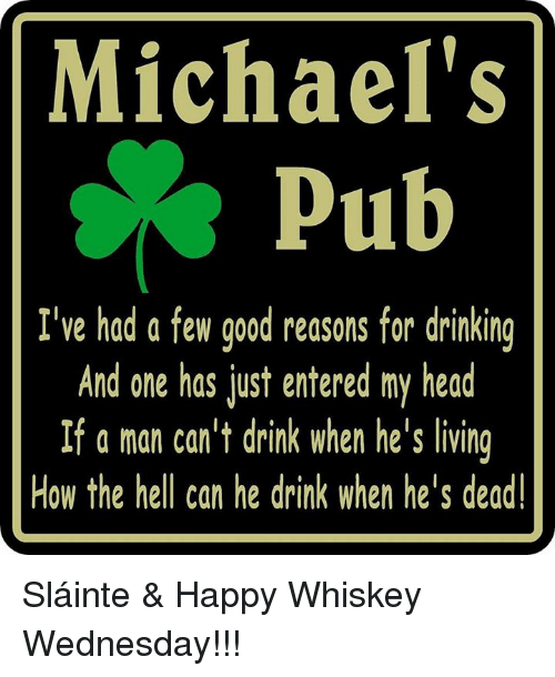 Michaels Pub Ive Had A Few Good Reasons For Drinking And One Has