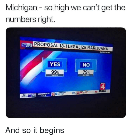 Michigan - So High We Can't Get the Numbers Right DECISION 2018