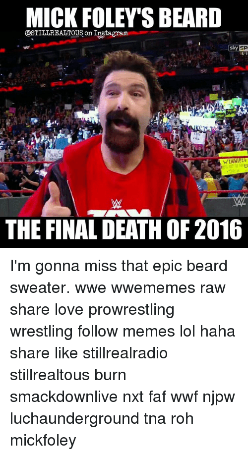 mick foley sbeard gastillrealtous on instagram skysp the final death 11263826 25 best epic beard memes an epic memes, wayned memes, step to memes