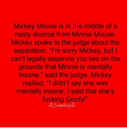 Mickey in the middle