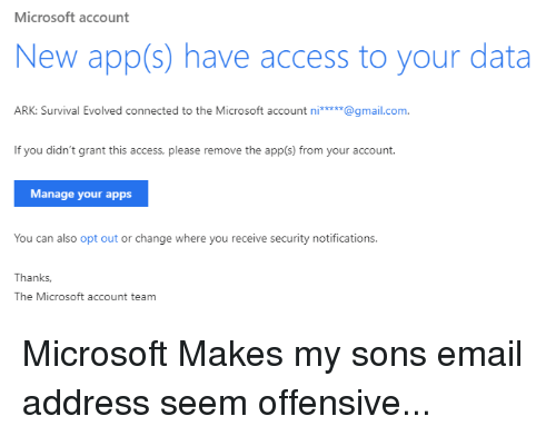 Microsoft Account New Apps Have Access to Your Data ARK