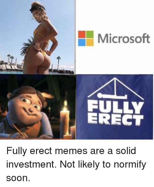 microsoft fully erect fully erect memes are a solid investment 28918307 microsoft fully erect fully erect memes are a solid investment not