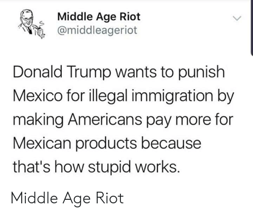 Middle Age Riot Donald Trump Wants to Punish Mexico for