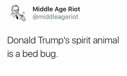 Middle Age Riot Donald Trump's Spirit Animal Is a Bed Bug