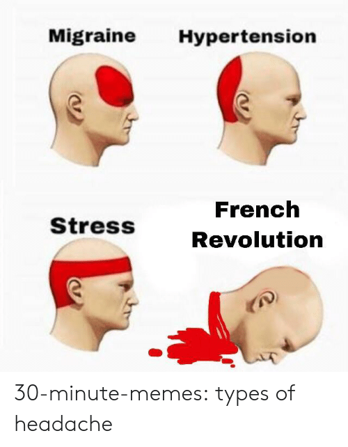 Memes, Tumblr, and Blog: Migraine Hypertension  French  Revolution  StressS 30-minute-memes:  types of headache