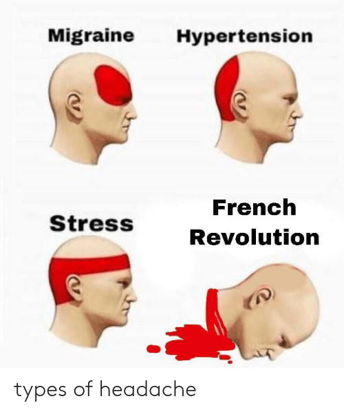 Migraine, Revolution, and French: Migraine Hypertension  French  Revolution  StressS types of headache