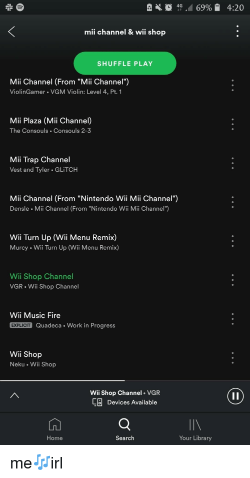Mii Channel & Wii Shop SHUFFLE PLAY Mii Channel From Mii